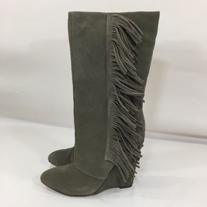 MIA Shoes - MIA Suede Flirty Wedge Boots Size 7